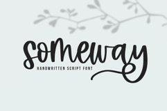 Web Font Someway - A Handwritten Script Font Product Image 1