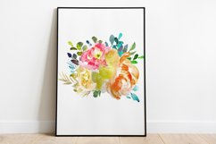 lantern with floral clipart Watercolor for design invite Product Image 4