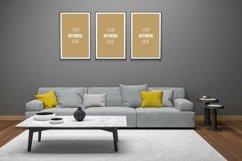 3D Interior Living Room Frame Mockup Product Image 2