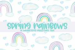 Web Font Spring Rainbows - A Hand-Lettered Mixed-Case Font Product Image 1