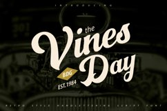 Vinesday   Retro Style Handlettering Script Font Product Image 1