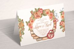Watercolor wreaths set. Roses & keys Product Image 5