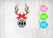 Antler Svg, Valentines Svg, Valentine Antlers, Valentine Bow, Holiday Bow Product Image 1