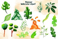 Watercolor Dinosaur Clipart Product Image 6