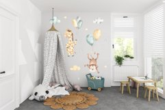 Animals and balloons watercolor Product Image 8
