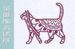 Cat Mandala SVG Product Image 1