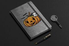 Halloween Pumpkin, Skull Bone and Bat SVG cut files Product Image 3