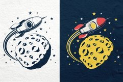 Space Rocket And Moon Set Product Image 2