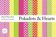 Pokadots and Hearts Paper Pack Product Image 1