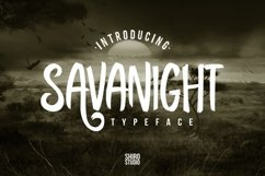 Web Font Savanight Product Image 1