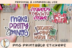 Crafters Crafty Stickers Vol 3 Printable PNG Product Image 1