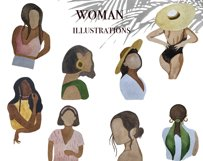 Abstract female watercolor clipart Boho woman Abstract Product Image 4