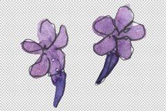 Bouquet summer breeze lavender watercolor png Product Image 3