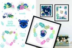 Nursery Art Jungle Animals Illustrations Patters & More Bund Product Image 6