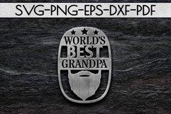 World's Best Grandpa Paper cut Template, Grandpa SVG, PDF Product Image 3