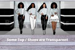 Afro lady Clip art, Big sis bundle, black girl, Afro clipart Product Image 2