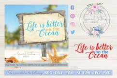 Life Is Better On the Ocean SVG DXF FCM LL036C Product Image 1