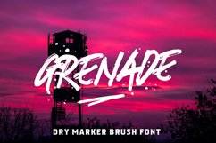 Grenade - A Dry Marker Brush Font Product Image 1