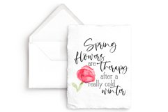 SPRING Flowers are Therapy... Sublimation Watercolor Product Image 3