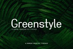 Greenstyle Casual Handcrafted Font Product Image 1