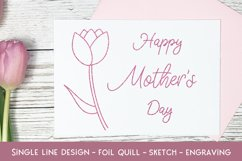 Single Line Happy Mother's Day 2 - Foil Quill - Sketch Product Image 1