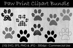 Paw Print SVG Bundle - Paw Print Clip Art Product Image 1