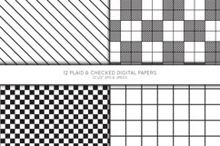 Plaid Digital Paper, Buffalo Plaid Scrapbook paper, check Product Image 3
