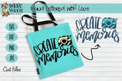 Hand lettered Create Memories - Camera - Cut File Product Image 2