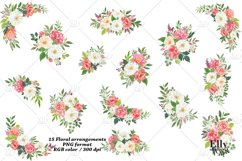 Watercolor Flowers clipart - Shantal Product Image 5