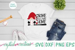 Gnome Place Like Home Baseball SVG, DXF, PNG, EPS Product Image 3