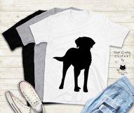 Black Labrador Retriever Dog Silhouette | Dog Mom SVG Files Product Image 4