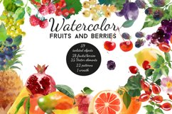 Watercolor fruits and berries Product Image 1