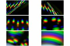 72 Photographs of Abstract Holographic Rainbow Backgrounds Product Image 6