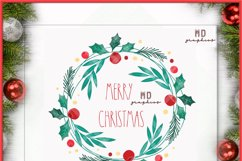 Christmas Wreath, Merry Christmas Wreath, Merry Christmas Product Image 3