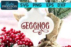 Eggnog SVG Cut File   Christmas SVG Cut File Product Image 1
