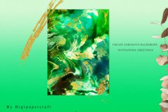 Emerald and Gold watercolor backgrounds, green watercolor Product Image 5