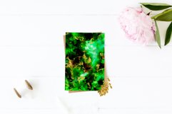 Emerald and Gold watercolor backgrounds, green watercolor Product Image 6