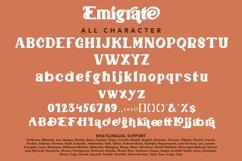 Emigrate - Modern Retro Font Product Image 3