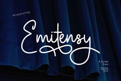 Emitensy Script Font Product Image 1