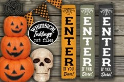 Enter If You Dare-Vertical Halloween SVG Product Image 1