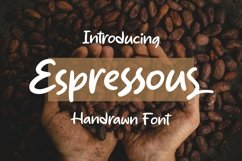 Web Font Espressous - Handrawn Font Product Image 1
