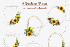 Sunflower Watercolor Frames Product Image 2