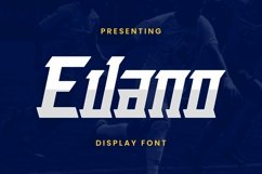 Web Font Evano Product Image 1