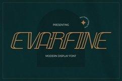 Web Font Evarfine - Modern Display Font Product Image 1