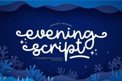 Web Font Evening Product Image 1