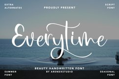 Everytime - Beauty Handwritten Font Product Image 1