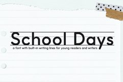 School Days Font with Writing Lines Product Image 1
