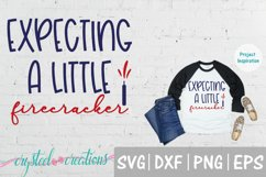 Expecting a Little Firecracker Pregnancy SVG, DXF, PNG, EPS Product Image 1