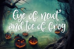 Something Wicked - a spooky script font! Product Image 2