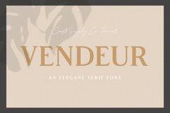 Vendeur - Elegant Serif Font Product Image 1